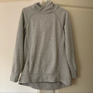 Joe Fresh Active grey stripe hoodie
